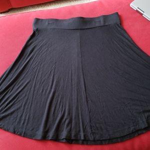 Loft black swing skirt